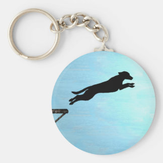 Dock Jumping Dog Keychains