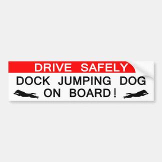 Dock Jumping Dog On Board Bumper Sticker