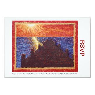 Dock Less Traveled RSVPs 3.5x5 Paper Invitation Card