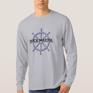 Dock Master Ship Wheel Mens LS T-shirt