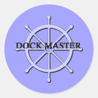 Dock Master Ship Wheel Sticker 2