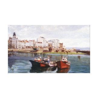 Dock of A Corunna/Dock in A Corunna Canvas Print