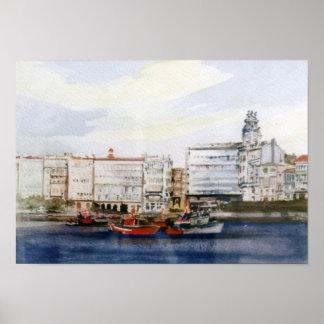 Dock of A Corunna/Dock in A Corunna Poster