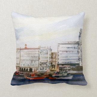 Dock of A Corunna/Dock in A Corunna Throw Pillow