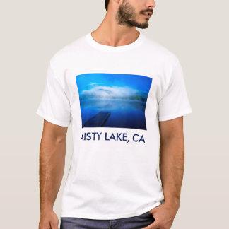 Dock on calm misty lake, California T-Shirt