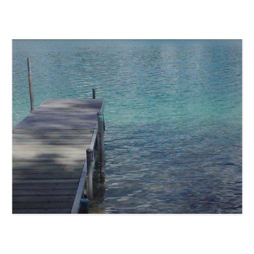 Dock on the Beach Post Cards