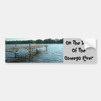 dock, On The DockOf The Oswego River, Photo by:... Car Bumper Sticker