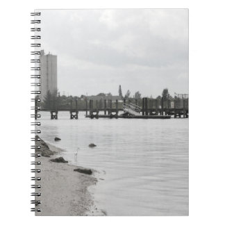 dock silo river shore ft pierce florida notebook