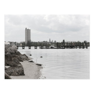 dock silo river shore ft pierce florida postcard