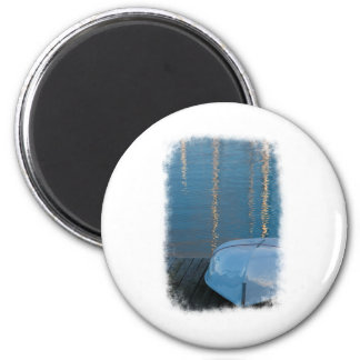 Docked boat 2 inch round magnet