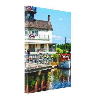Docked Boat Canvas Print