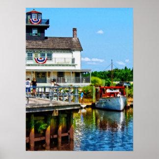 Docked Boat Poster