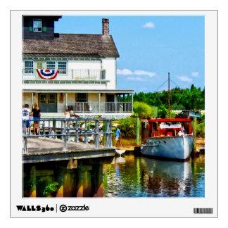 Docked Boat Wall Sticker