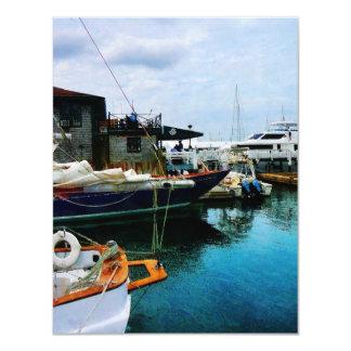 Docked Boats in Newport RI Card