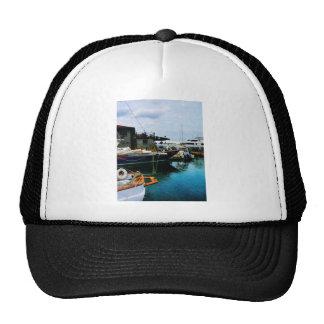 Docked Boats in Newport RI Trucker Hat