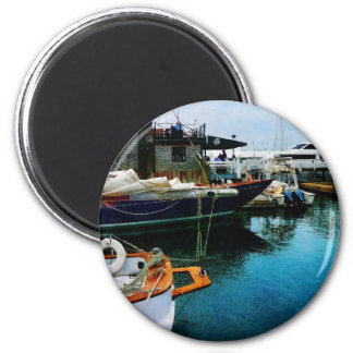 Docked Boats in Newport RI Fridge Magnet