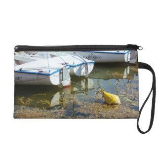 Docked Boats In Water, Nautical Photography Wristlet Clutches