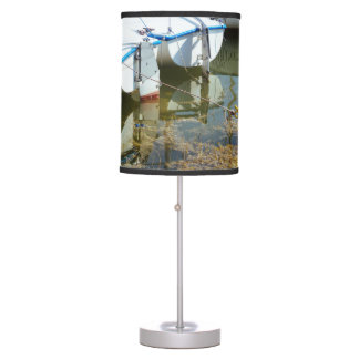 Docked Boats In Water, Nautical Photography Desk Lamp