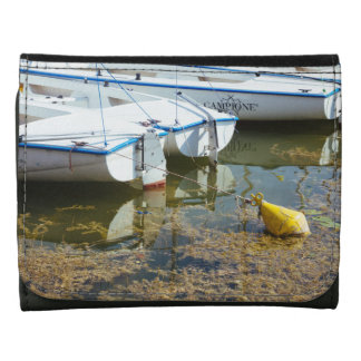 Docked Boats In Water Nautical Photography Wallet