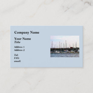 Norfolk va business cards zazzle docked boats norfolk va business card reheart Gallery