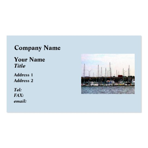 Docked Boats Norfolk VA Double-Sided Standard Business Cards (Pack Of 100)