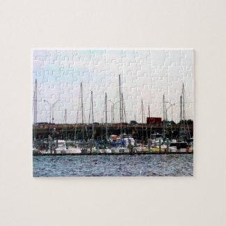 Docked Boats Norfolk VA Jigsaw Puzzle