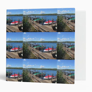 Docked Boats on Beautiful Lake 3 Ring Binder