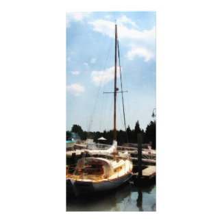 Docked Cabin Cruiser Rack Card