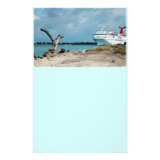 docked cruise shiop flyer