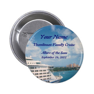 Docked in Nassau Custom Name Badge 2 Inch Round Button