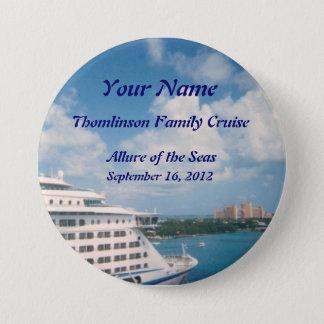 Docked in Nassau Custom Name Badge Pinback Button