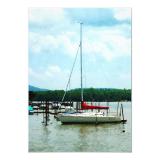 Docked on the Hudson River Card