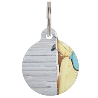 Docked Pedal Boat Pet ID Tag