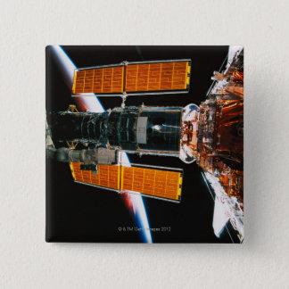 Docked Satellite Pinback Button