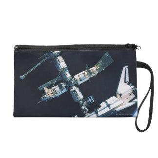 Docked Space Shuttle 2 Wristlet Purse