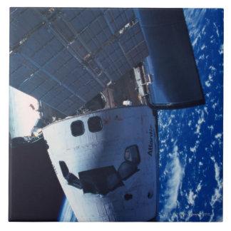 Docked Space Shuttle 3 Ceramic Tile