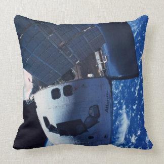 Docked Space Shuttle 3 Pillow