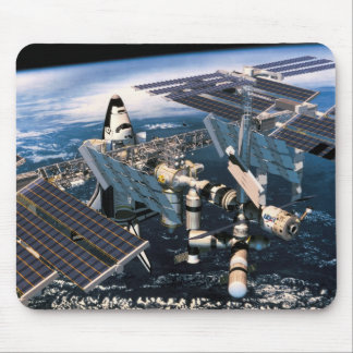 Docked Space Shuttle Mouse Pad
