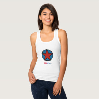 """Docker back swimmer, curved cut, """"RED STAR """" Tank Top"""