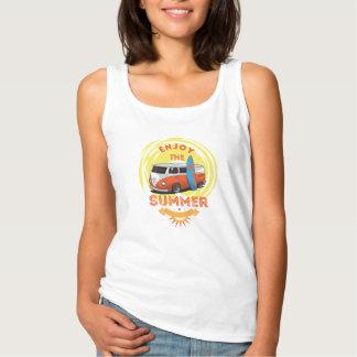 Docker Woman White BASIC Surfing Tank Top