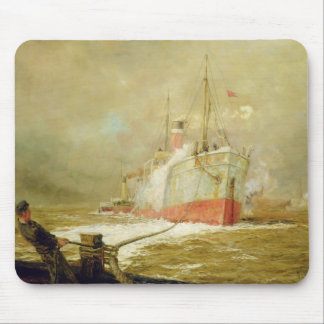 Docking a Cargo Ship Mouse Pad
