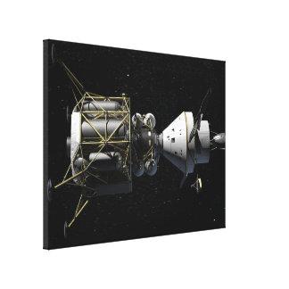 Docking In Space - Artist Rendering Canvas Print