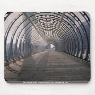 Docklands light railway interior of footbridge, Po Mouse Pad
