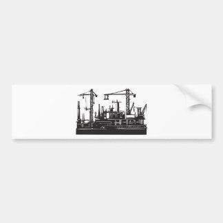Docks and Cranes Bumper Sticker
