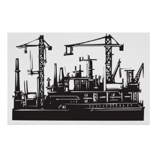 Docks and Cranes Posters