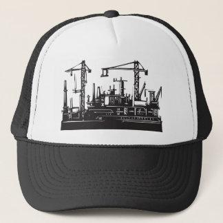 Docks and Cranes Trucker Hat
