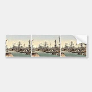Docks and shipping, Hamburg, Germany classic Photo Bumper Sticker
