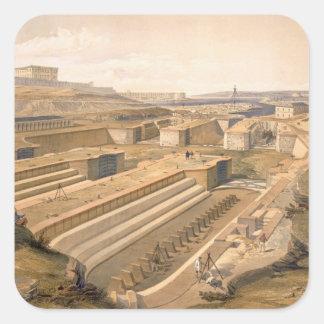 Docks at Sebastopol, plate from 'The Seat of War i Square Sticker