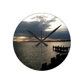 Docks Round Clock