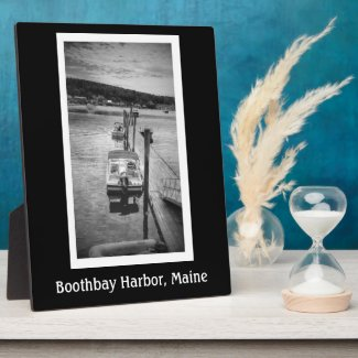 Dockside Boothbay Harbor 8x10 With Easel Plaque